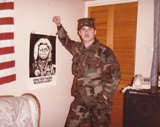 Sgt. Ano Mussimo, Admin., 20th SPS. Christmas 1983. Submitted by Sam Bagley, 20th Security Police Squadron, Law Enforcement, ''A'' Flight, Jan 1982 - Sep 1985.