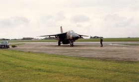 55th Tactical Fighter Squadron F-111E Launch. Submitted by Kevin Olley, 20th TFW, 520th AGS, 55 AMU, blue section, 20 TFW, MAT DCC / ABDR training section. 1983 - 1986.