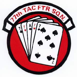 77th Tactical Fighter Squadron decal. Submitted by Mike Cahill.