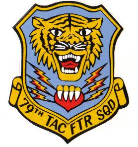 79th Tactical Fighter Squadron logo. Submitted by Art Sevigny, 77TFS asst NCOIC Aircrew Life Support & 77th Tactical Fighter Squadron Historian.
