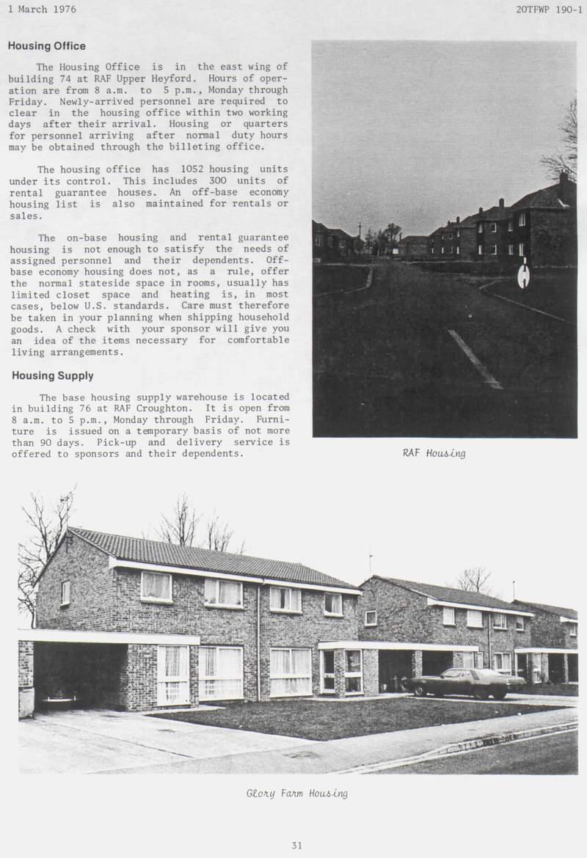 Base Housing - RAF Upper Heyford, England